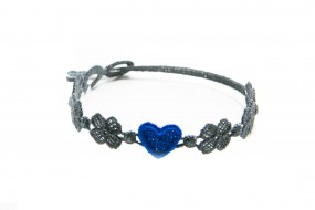 Cruciani Armband You Star graublau