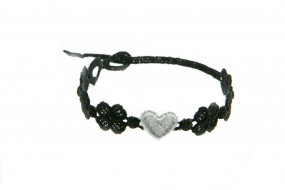 Cruciani Armband You Star schwarz grau